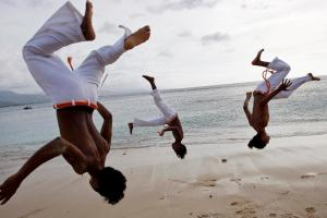 Capoeira Practice on Dili Beach, Timor-Leste - United Nations Flickr Photostream