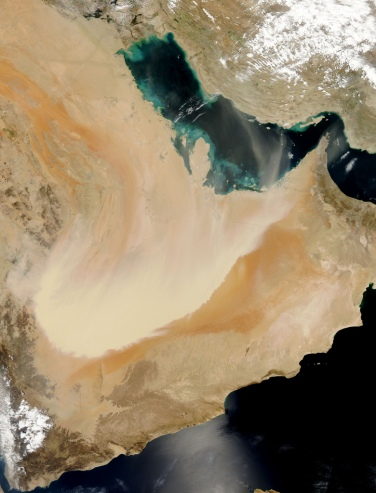 'Dust storm in Saudi Arabia' by NASA Goddard Space Flight Center on Flickr