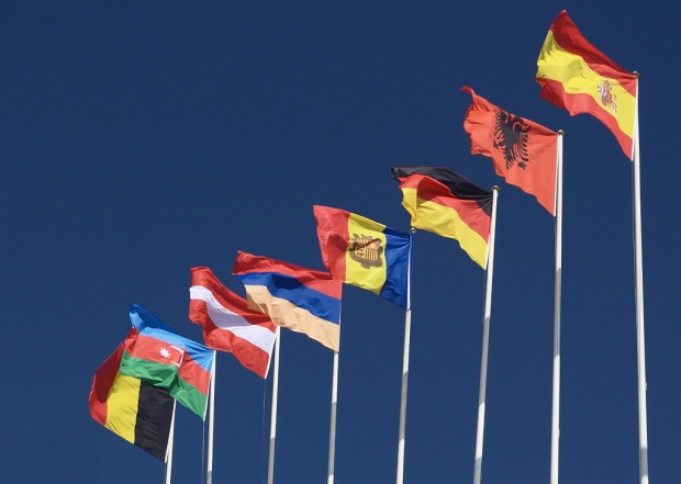 'Flags on the Olympic Stadium in Barcelona' by Martin Pilat on Flicr