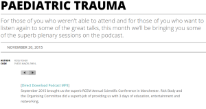 Paediatric Trauma