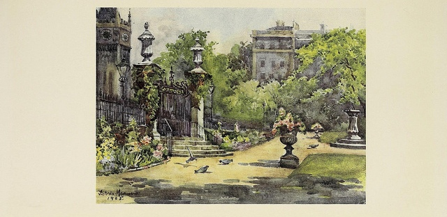Picture of a London park from the BioDiverty Heritage Library's collection on Flickr